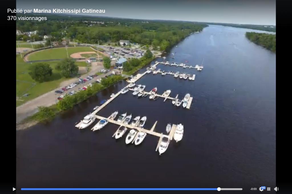 Lien vers un vidéo de notre marina sur notre page Facebook